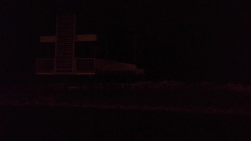 Впечатляющий ночной шторм