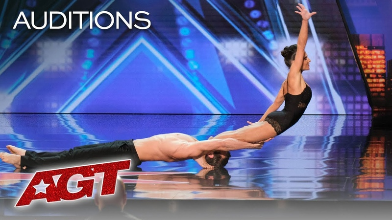 AGT s SEXIEST Audition?! Acrobatic Dance Duo Excites The AGT Judges America s Got Talent 2019