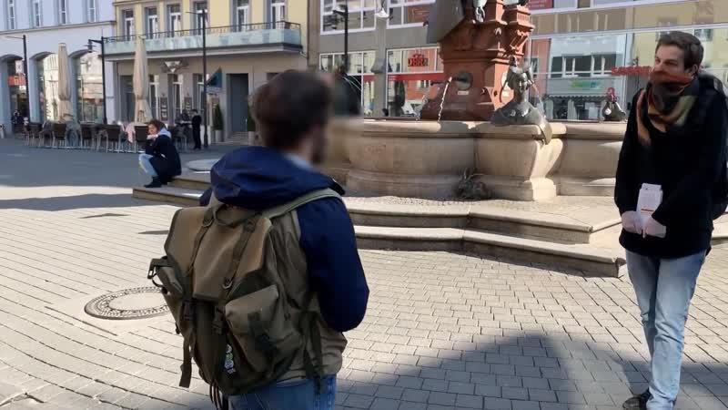 Polizei stoppt in Konstanz Protest Spaziergänger für die Wahrung der Grundrechte 1080p 30fps H264 128kbit AAC