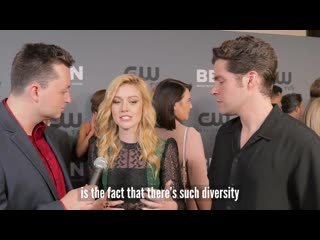 Arrow actress, katherine mcnamara, talks about how she connects to her fans via