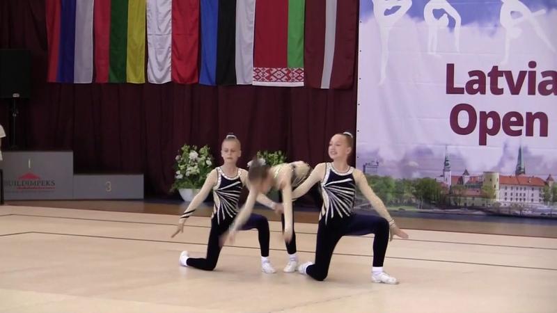 Екатерина Шишина, Ариана Стирбис, Виктория Шемонаева - на Latvian Aerobic Open Cup 2019 в г. Рига