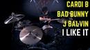 Cardi B, Bad Bunny J Balvin - I Like It   Matt McGuire Drum Cover