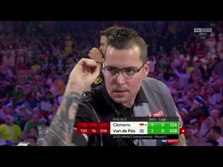 Gabriel Clemens vs Benito van de Pas (PDC World Darts Championship 2020 / Round 1)