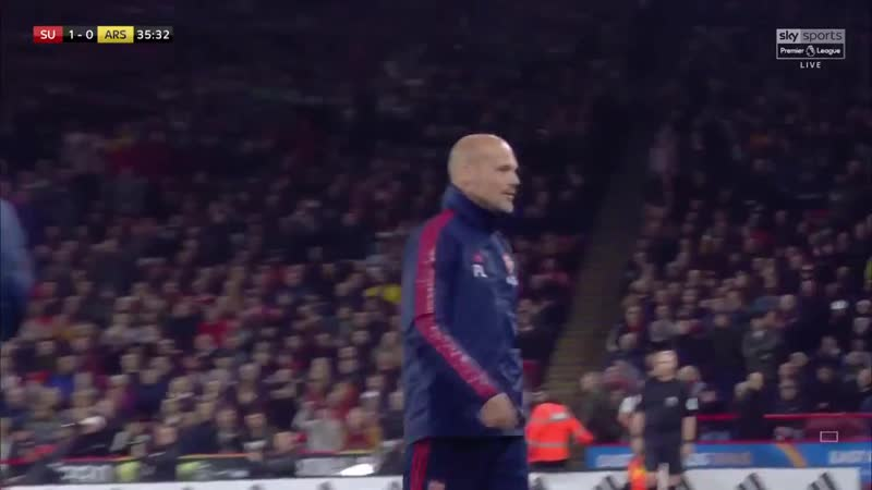 Freddie Ljungberg gets his first Premier League yellow card for 11 years SHUARS