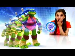 ToyFriendTV    Черепашек Ниндзя УМЕНЬШИЛИ! Ищем Леонардо - Игры Черепашки Ниндзя в ToyClub