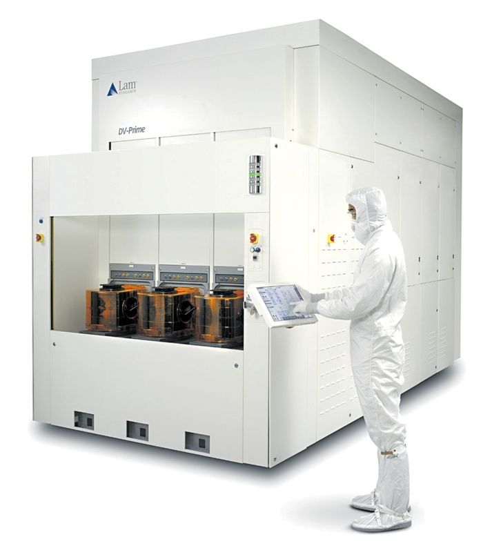 Один из продуктов Lam Research — махина под названием DV-Prime. Применяется для очистки поверхности пластины чипа от мельчайших частичек постороннего вещества. Ведь производители чипов работают с микроскопическими деталями, что ставит перед ними серьезный вызов, поскольку даже незначительная пылинка может забраковать будущее изделие.