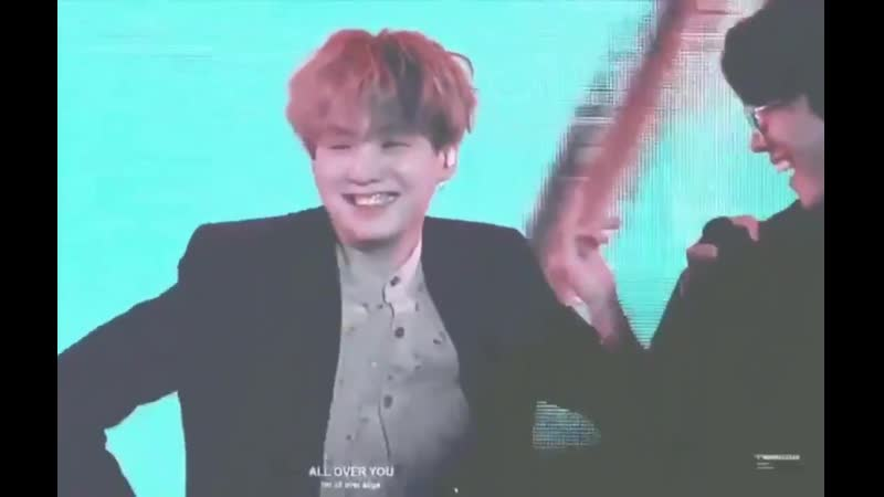 LOOK AT YOONGIS SMILE DURING COME BE MY TEACHER PART YN