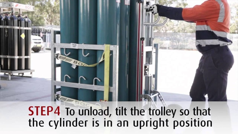 BOC - How to use the magnetic cylinder trolley