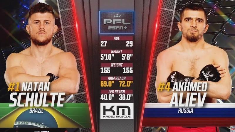 Ахмед Алиев vs Натан Шулте PFL 8 / Akhmed Aliev vs Natan Schulte