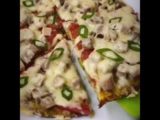 Полезная ПП пицца на сковороде! Приготовьте обязательно!)