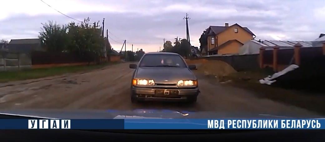 «Бесправник» в Ольшанах пытался уйти от ГАИ… на задней передаче