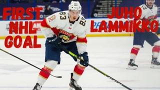 Juho Lammikko #83 (Florida Panthers) first NHL goal 17/02/2021