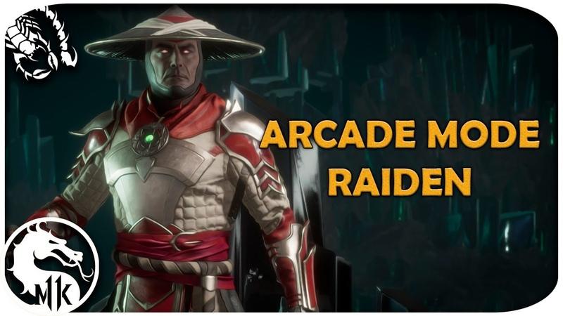 Mortal Kombat 11 - Arcade Mode - RAIDEN ( Fatality, Brutality, Ending)