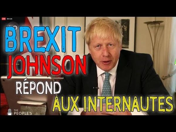 BREXIT Boris johnson répond aux internautes stfr 11 09 2019