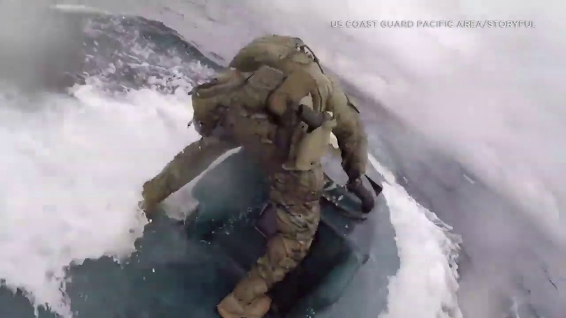 Raw Coast Guardsman jumps onto narco submarine loaded with drugs in Pacific Ocean I ABC7