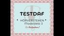 TestDaf | Hörverstehen (3)
