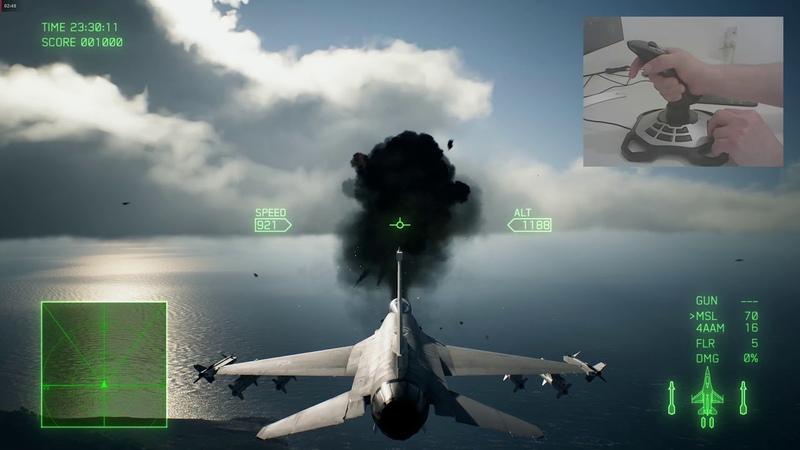 Logitech Extreme 3D Pro Обзор , играем в Ace Combat 7 с WoJ XInput Эмулятором