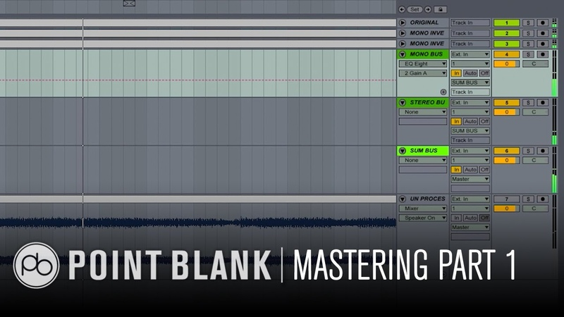 Mastering Dance Music in Ableton Live Part 1: Creating a Mid/Side Matrix