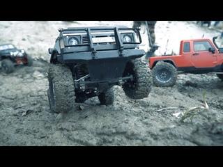 Преодоление крутых горок внедорожниками  RC Adventure Crawler offroad 4x4  Радиоуправляемые машины
