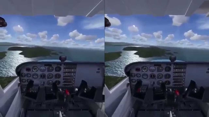 Flight Simulator X in Oculus Rift Virtual Reality Let`s fly the Cessna