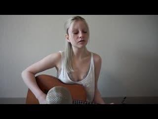 Holly Henry спела нежно под гитару Lady Gaga - Poker Face