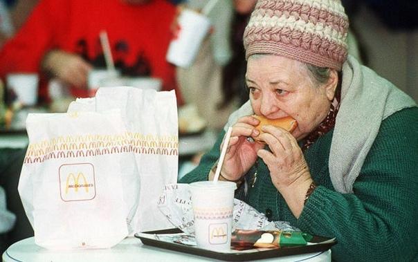 """""""Макдоналдс"""". Москва. 1990г. Я как раз работал там в это время ."""