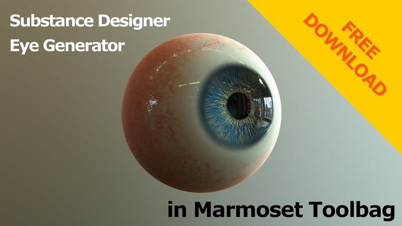 Eye Generator in Substance Designer - Marmoset Toolbag Presentation