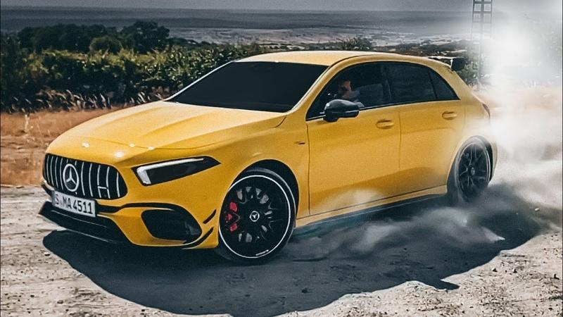 ПЕРВЫЙ ТЕСТ 421 л с A 45 S и CLA 45 S DRIFT MODE Подробный обзор 4MATIC демонов от Mercedes AMG