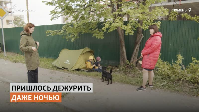 В Тюмени люди живут в палатках под деревьями чтобы спасти их от сноса Сибирь Реалии