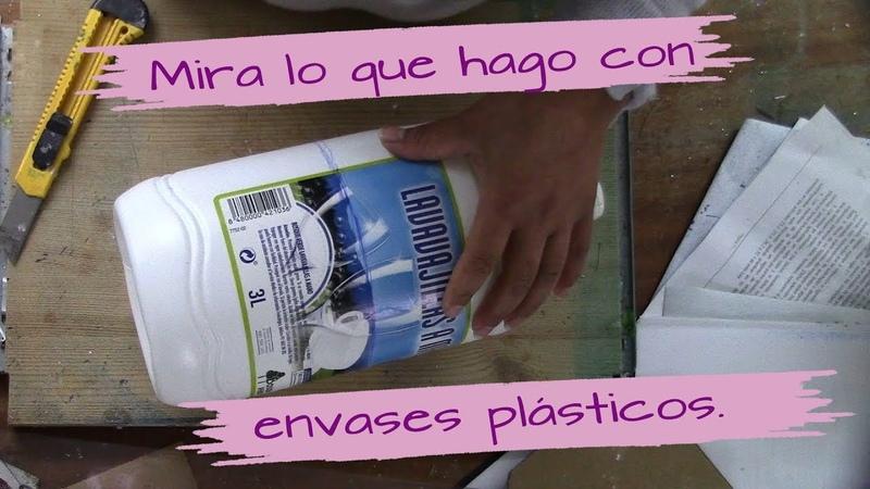 No tires lo potes galones o envases plásticos redondos mira lo que hago