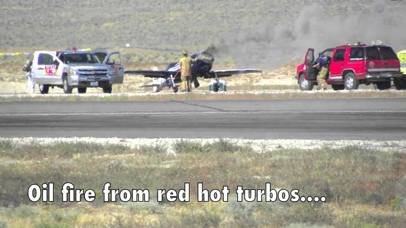 Ultimate Reno Air Race dead-stick landing after blown engine and propeller snaps off