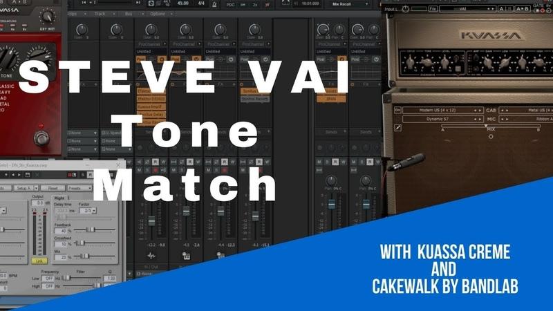 STEVE VAI Guitar Tone Match in Cakewalk by BandLab Settings Preset