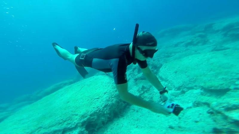 Погружение без акваланга. Видео о виндсерфинг школе на Кипре. Windsurfing school on Cyprus!
