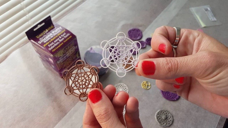 Tutorial 1 How to Make Your Own Sacred Geometry Silicone Molds For Orgone Energy Resin Pendants