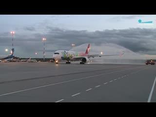 В Пулково приземлился Airbus A350