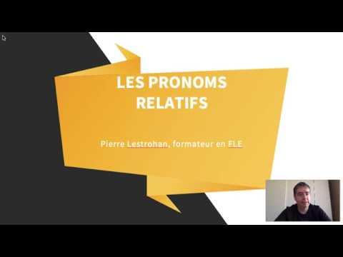 Pronoms relatifs относительные местоимения по французский