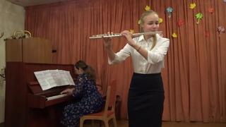 "Мария Ржаницына(флейта),концертмейстер Анна Ерохина- ""Ноктюрн"" (Цыбин)"