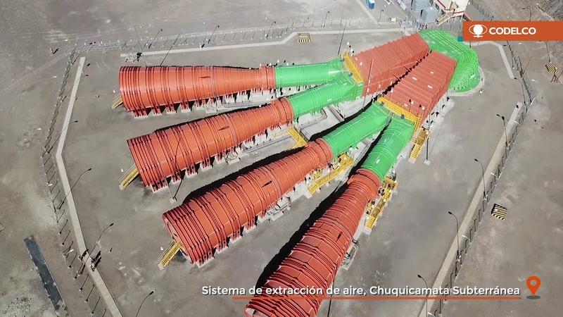 Te mostramos el sistema de extracción de aire de la nueva mina Chuquicamata Subterránea