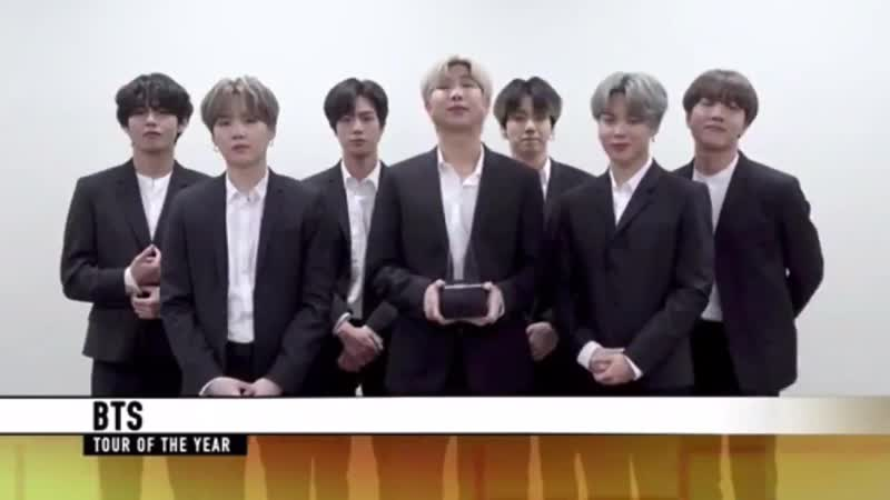 191125 BTS Tour Of The Year @ 2019 AMA