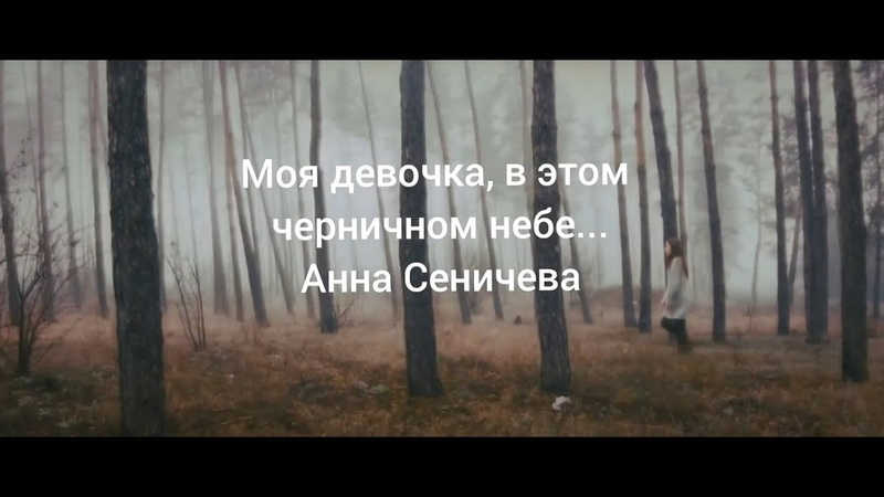 Моя девочка в этом черничном небе Анна Сеничева
