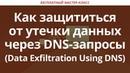 Как защититься от утечки данных через DNS-запросы Data Exfiltration Using DNS
