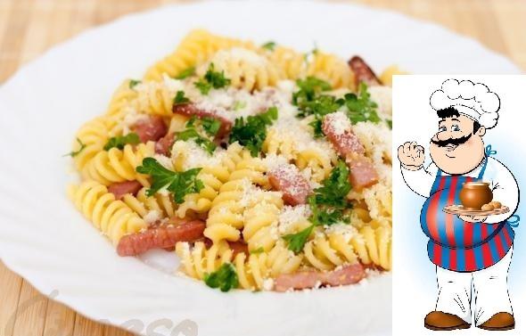 Паста Карбонара Паста Карбонара - итальянское блюдо из макарон с соусом на основе яиц, сыра (пекорино романо или Пармиджано-Реджано), бекона и черного перца. Ингредиенты 250 г спагетти 100 г