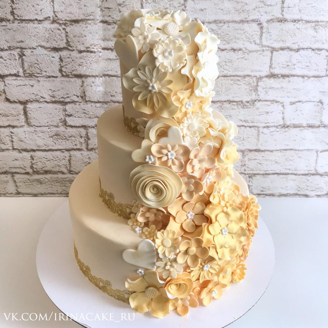 Золотой свадебный торт (Арт. 492)