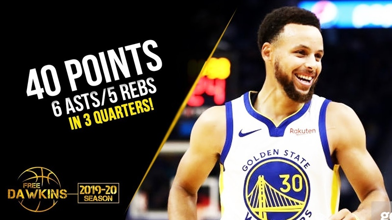Stephen Curry Full Highlights 2019 10 10 Warriors vs TWolves 40 Pts in 3 QTRS FreeDawkins