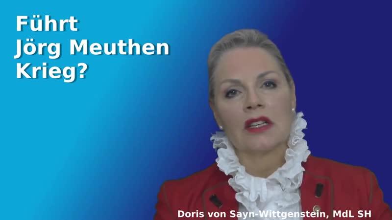 DORIS VON SAYN WITTGENSTEIN FÜHRT JÖRG MEUTHEN KRIEG