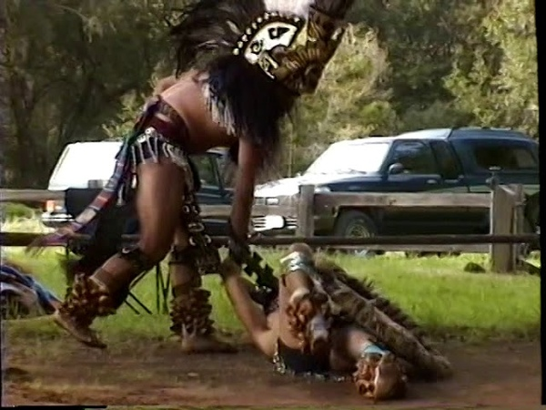 Teokalli Aztec Dancers at Kule Loklo in 1998