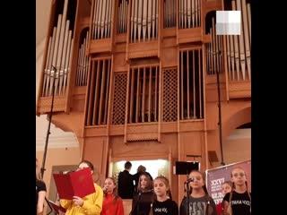 Детский хор спел rammstein под орган в архангельске