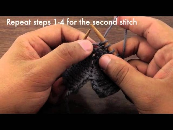 М2--How to Knit the Make Two Double Increase - M2 (English Style)