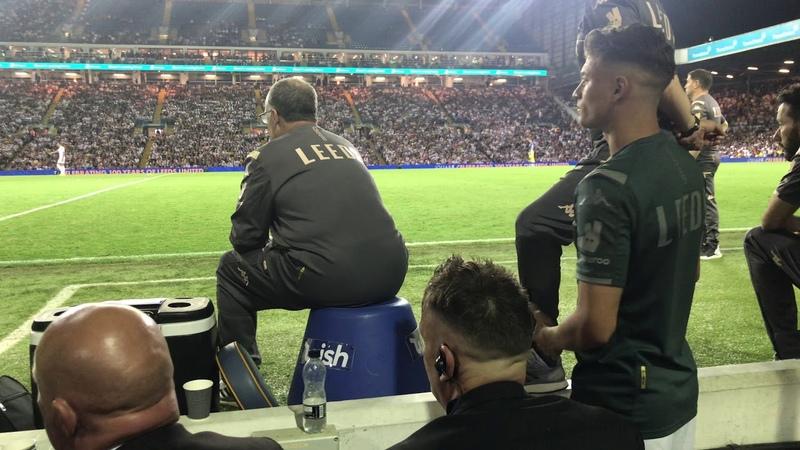 Marcelo Bielsa cam Leeds v Stoke 2nd half.