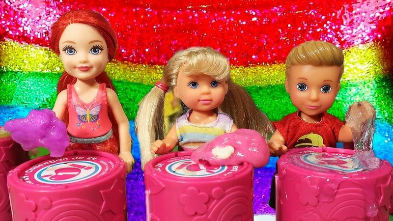 КОНКУРС СЛАЙМОВ. КТО ЖУЛЬНИЧАЕТ? КУКЛЫ Мама Барби, Маша и Даша